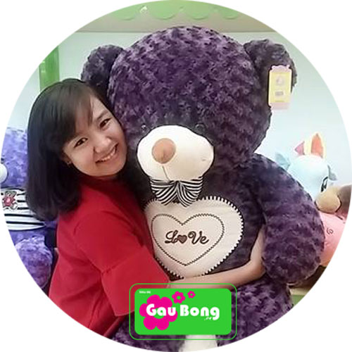Gấu Teddy Tim Nơ
