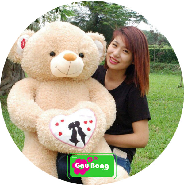 Gấu Teddy Ôm Tim Couple
